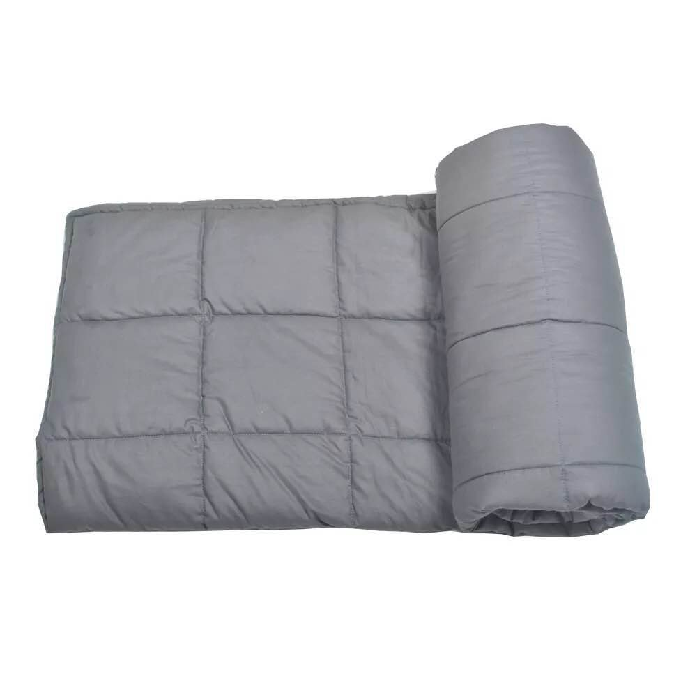 Weighted Blanket for Adults And Kids,Fall Asleep Faster and Stay Asleep Longer, Great for Anxiety, ADHD, Autism,Insomnia, OCD,and SPD(48''x 72'', 21lbs, Dark Grey)
