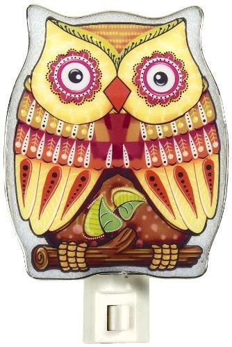 - Colorful Yellow Owl NightLight by Ganz