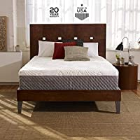 Sleep Innovations Shiloh 12-inch Memory Foam Mattress with Quilted Cover, Made in The USA with a 20-Year Warranty - Queen Size