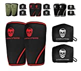 Gymreapers Elbow Sleeves (1 Pair) W/Bonus Wrist Wraps - Support & Compression