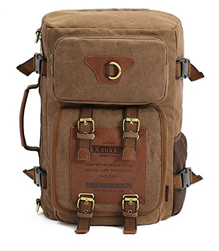 MD Group Tactical Backpacks Men's Canvas Army Style Shoulder Travel Bag by MD Group