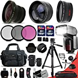 Ultimate 37 Piece Accessory Kit for Canon Mark II EOS 70D 60D 60Da EOS Rebel T6i T6S T5i T5 T4i T3i T3 700D 650D 600D T2i SL1 EOS M EOS M2 5D Mark II EOS 5D Mark III EOS 1200D 1100D 100D 550D EOS REBEL XS XSi XT XTi Kiss X50 kiss X70 Kiss X7i Kiss X6i Kis