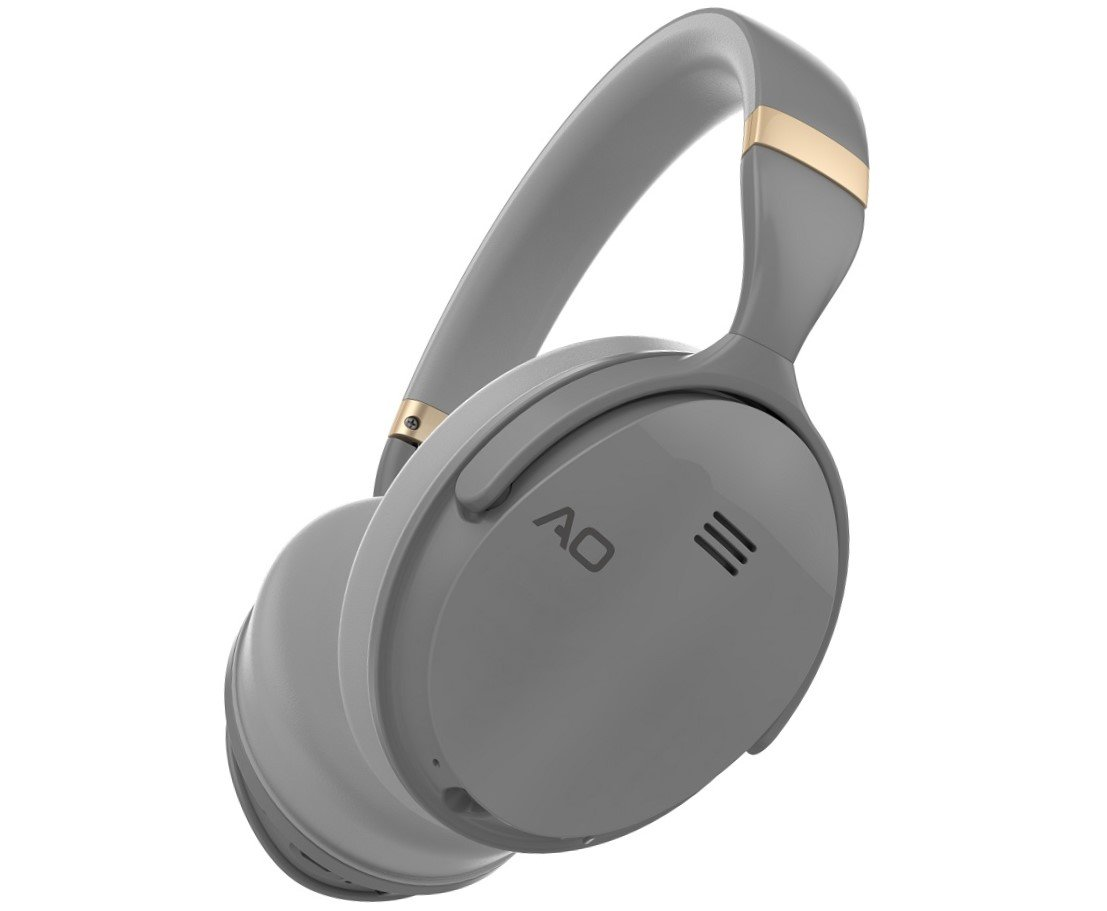113cea73b67 AO Active Noise Cancelling Headphones Wireless Bluetooth Headphones Over-Ear  - M5 (Gray)