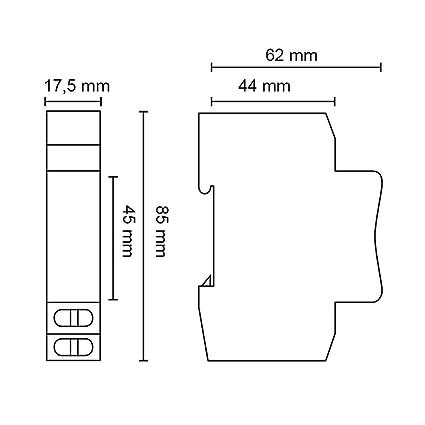 GRÄSSLIN - 18.13.0009.1 - Trealux 210 - Minutero de Escalera - 1 Posconexión - Montaje Carril DIN - Ajuste de Tiempo de 30 Segundos a 20 min - 230 V 50Hz: Amazon.es: Industria, empresas y ciencia