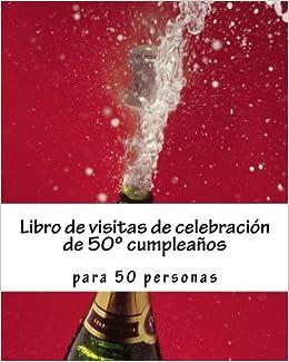 Amazon.com: Libro de visitas de celebración de 50º ...