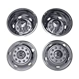 Pacific Dualies 31-1950 Polished 19.5 Inch 10 Lug Stainless Steel Wheel Simulator Kit for 2014 and Earlier Ford F650 Truck