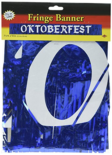 Metallic Oktoberfest Banner Party Accessory (1 count) (1/Pkg) (Banner Oktoberfest Fringe)