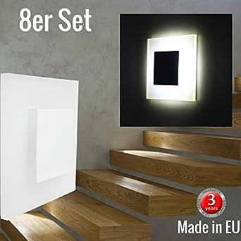 Lot De 8 Led Design Sun De Pyramid Small 75 X 75 Mm Blanc Froid