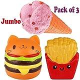 Viccent Pack of 3 Jumbo Slow Rising Squishies Kawaii...