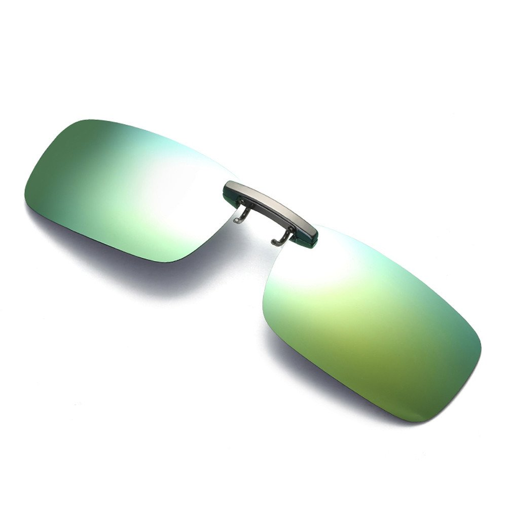 Womens Mens Sunglasses,DetachableNight Vision Lens Glasses Metal Polarized Clip On Glasses Sport Driving Sunglasses (Green, Free Size)