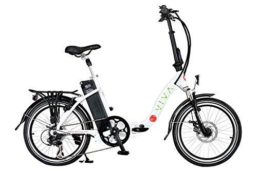 AsVIVA B12 Elektrofahrrad und Klapprad Pedelec 20 Zoll - das Faltrad mit 36V 11Ah Samsung Akku ein E-Bike/Elektrorad, weiß, B12_W