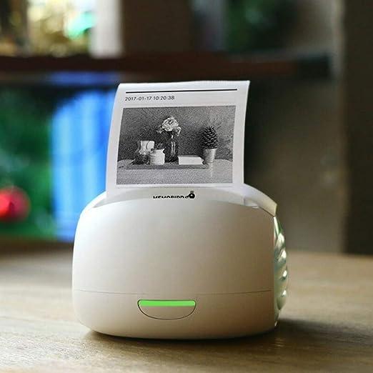 HBLWX Mini Impresora Bluetooth inalámbrica Impresora de ...