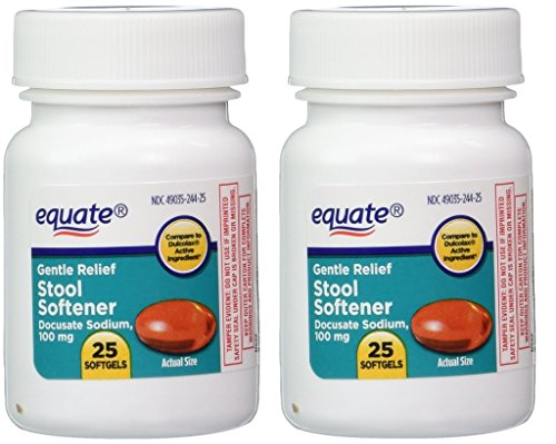 Equate - Stool Softener 100 mg, 50 Softgels (2 Pack) (Compare to Dulcolax) ()