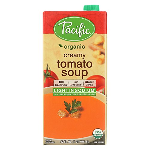 Pacific Natural Foods Creamy Tomato Soup - Light In Sodium - Case of 12 - 32 Fl oz. by Pacific Natural Foods