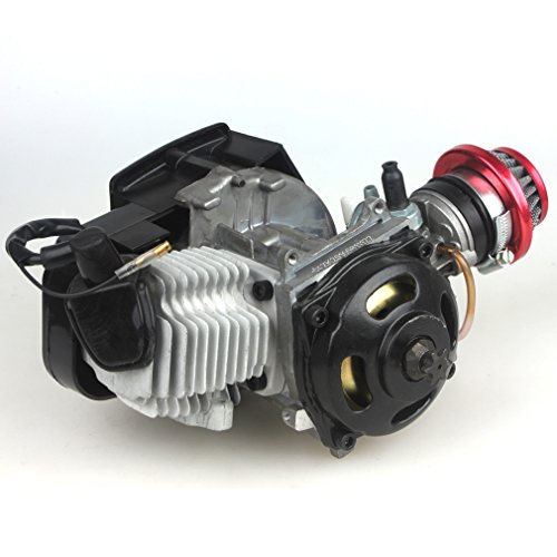 49CC 2-Stroke Engine + Handle Bar+ Throttle Cable +Air Filter Motor Pocket Mini Bike Scooter ATV 6T T8F Chain 44MM Bore by Wingsmoto (Image #6)