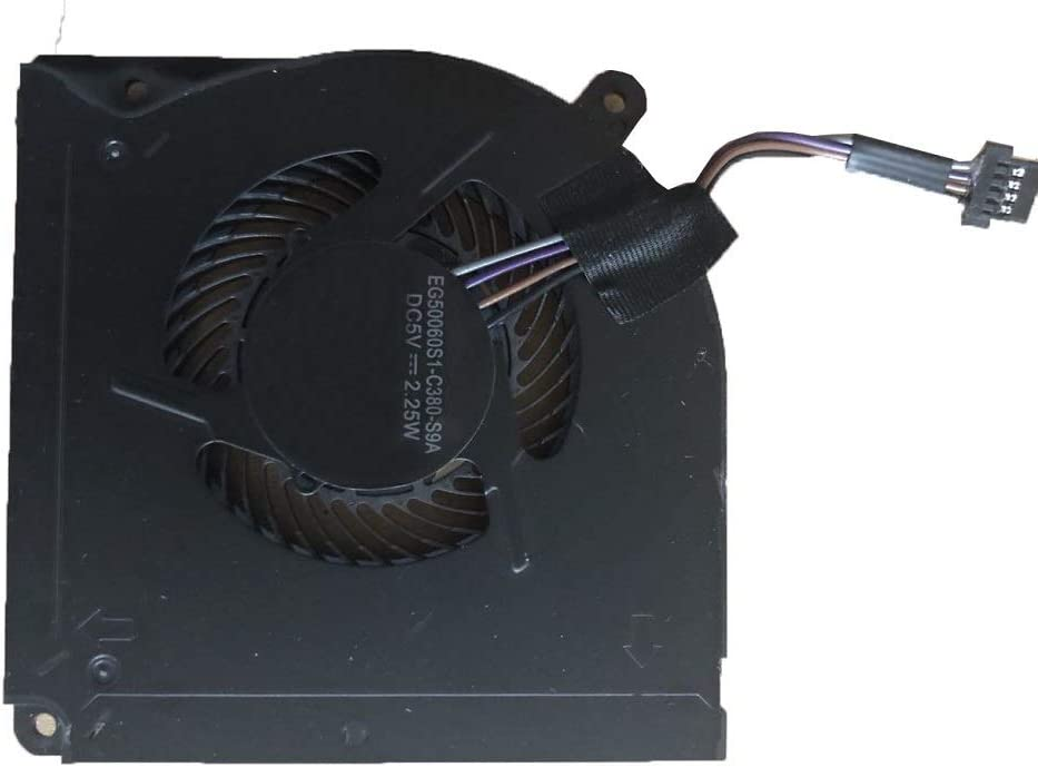 RTDpart Ventilador de refrigeración para CPU para Ordenador portátil Schenker XMG Neo 15 EG50060S1-C380-S9A CPU THER7GK5C6-1411 GK5CN6Z