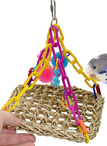 (00747 Mini Flying Trapeze Bird Toy Parrot Shred cage Toys Cages Cockatiel Conure)