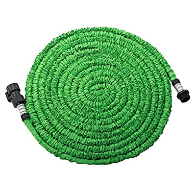 Supxing 50/75ft Expandable Garden Hose, Expanding Water Hose with Triple Layer Latex Core&Shut Off Valve for All Your Watering Needs