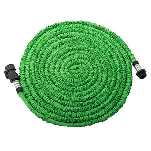 Supxing 50/75ft Expandable Garden Hose, Expanding Water Hose with Triple Layer Latex Core&Shut Off Valve for All Your Watering Needs (75ft)