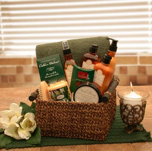 Vanilla Spa Therapy and Relaxation Spa Gift Basket by The Gift Basket Gallery