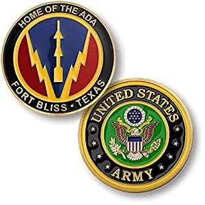 U.S. Army Fort Bliss Texas - Home Of The ADA Challenge Coin by Armed Forces Depot