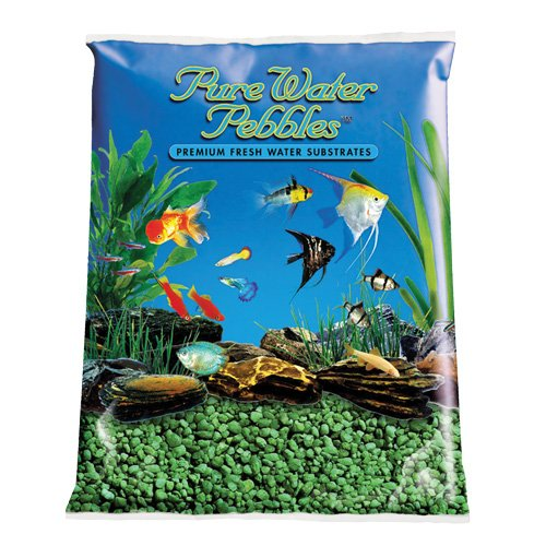 Pure Water Pebbles Aquarium Gravel, 2-Pound, Emerald Green by Pure Water Pebbles