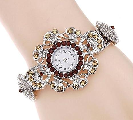Aliexpress trade explosion Bracelet Diamond diamond watch retro ladies table table wholesale alloy: Amazon.es: Relojes