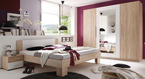Schlafzimmer Komplett Eiche Bv Vertrieb Kleiderschrank Doppelbett 2