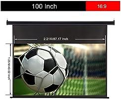EXCELVAN - 100 Pulgadas 221 x 125 cm Pantalla de Proyector ...