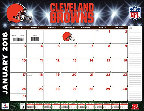 "Turner Cleveland Browns 2016 Desk Calendar, January-December 2016, 22 x 17"" (8061533)"