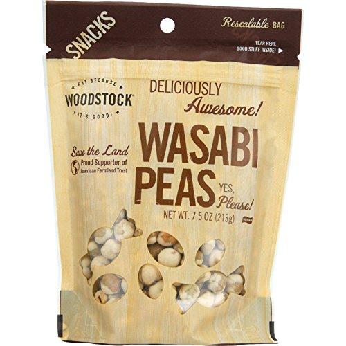 Woodstock Peas Wasabi, 7.5 oz