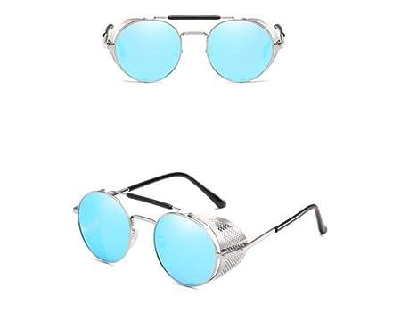 c427d9408b6 KOMNY Fashion SteamPunk Sunglasses Men Round Side Mesh Style Sun Glasses  Vintage Punk Eyewear Men Gafas De Sol