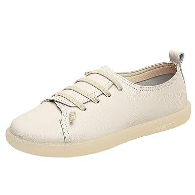DressLksnf Zapatillas de Casual Mujer Color Sólido Planas Zapatos ...