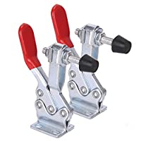 Accessbuy 2pcs 500lbs Hand Tool Toggle Clamp Quick-Release Horizontal Clamp