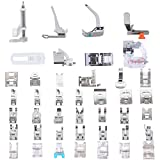 ◕‿◕ Professional Domestic 42 pcs Sewing Machine Presser Feet Set for Brother, Babylock, Singer, Janome, Elna, Toyota, New Home, Simplicity, Necchi, Kenmore, and White Low Shank Sewing Machines