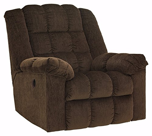 Ashley Furniture Signature Design - Ludden Recliner - One Touch Power Control - Cocoa -  8110498