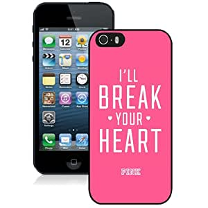 Hot Sale 5S Case,Black Victoria'S Secret Love Pink 84 iPhone 5S Screen Phone Case Unique and Fashion Design