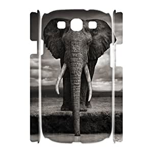 ZHANG Elephant Samsung Galaxy S3 SIII I9300 TPU Soft Black or White 3D case