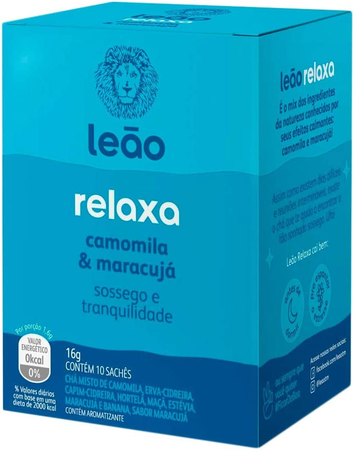 Chá Funcional Relaxa 10 Sachês - Leão