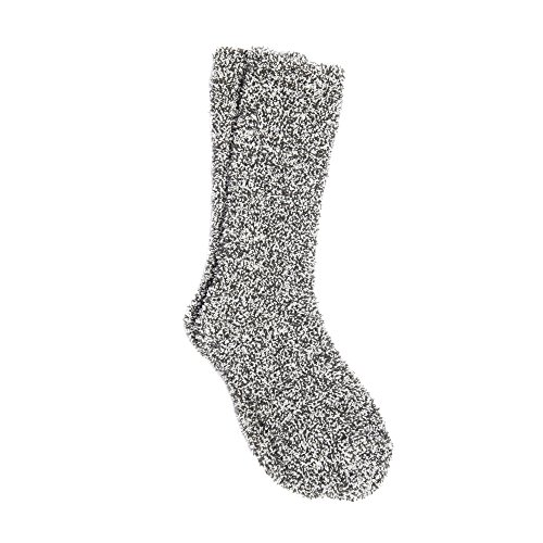 Barefoot Dreams Cozychic Women's Heathered Socks (GRAPHITE / WHITE)
