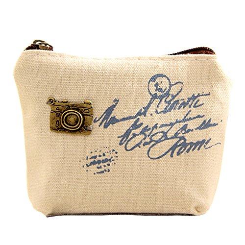 Canvas Retro Small Mini Eiffel Tour Wallet Coin Purses Clutch Money Pouch Bags (Bags Tour Eiffel)