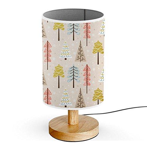 ArtLights - Wood Base Decoration Desk / Table / Bedside Lamp [ Autumn Forest Trees ]
