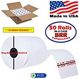3 - 1/8' (80mm) X 230' (2.75'dia.) 15% MORE PAPER (50 ROLLS) Cash Register Thermal Paper BPA Free MADE IN USA From BuyRegisterRolls