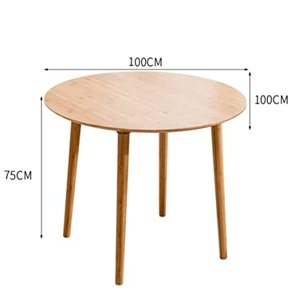 Amazon Com Qidi Table Solid Wood Round Dining Table Simple