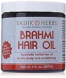 Brahmi Hair Oil (8 oz) | all natural herbal hair oil for hair growth, hair conditioning, dandruff and dry scalp | herbal scalp treatment