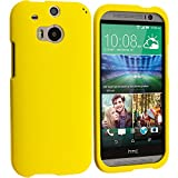 Cell Accessories For Less (TM) Yellow Hard Rubberized Case Cover for HTC One M8 Bundle (Stylus & Micro Cleaning Cloth) - By TheTargetBuys