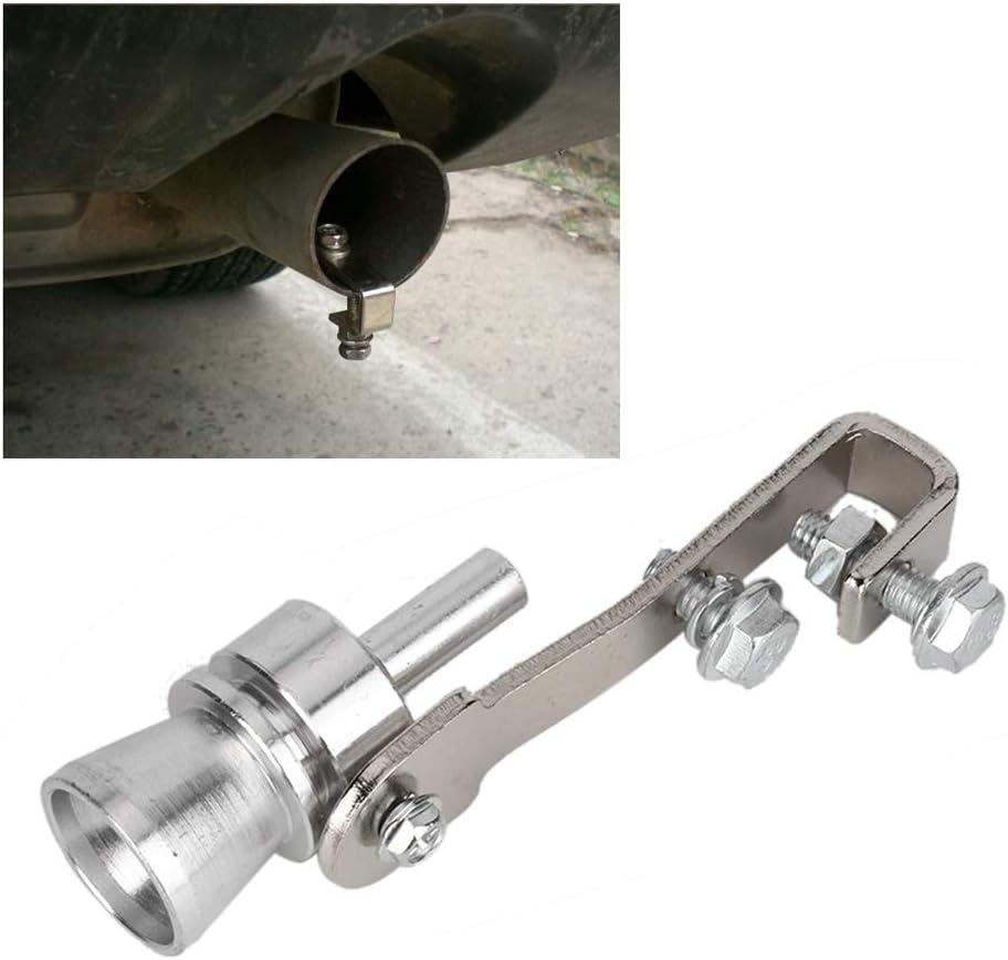 Qii lu Turbo Sifflet pour Tuyau d/échappement Universel XL Turbo Sound Blow-off Simulator dalliage daluminium Turbo Sound d/échappement pour voiture