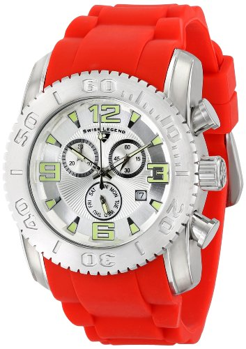 Swiss Legend Men's 10067-02S-RDS Commander Analog Display Swiss Quartz Red Watch (Mens Commander Chronograph Watch)