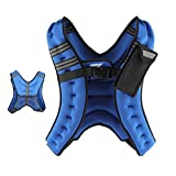ZELUS Weighted Vest 12 lbs Adjustable Weight Vest w/Reflective Stripe for Workout, Strength Training, Running, Fitness, Muscle Building, Weight Loss, Weightlifting (Blue)