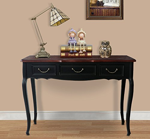- Attraction Design Console/Sofa Table, Ash Tree Curved Legs Hall Table Console Table Sofa Table with Drawers, Accent Table, Rectangular (Brown A)